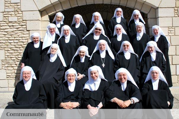 La communautés des soeurs bénédictines du monastère Sainte Françoise Romaine