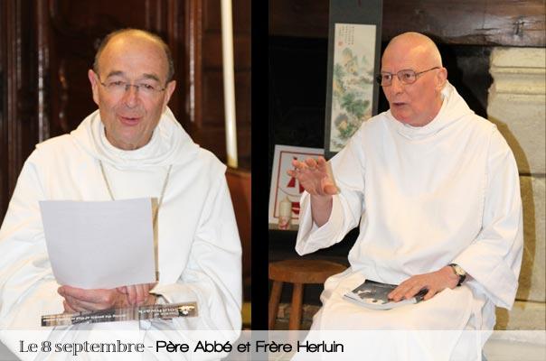 Père Abbé et frère Herluin