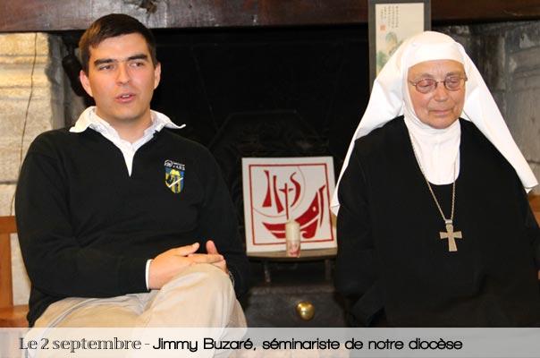 Jimmy Buzaré, séminariste de notre diocèse