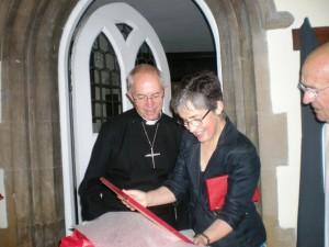 L'archevèque Justin Welby et son épouse