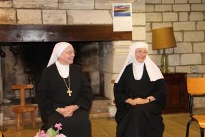 Mère prieure et Mère Marie-Baptiste d'Abu-Gosh