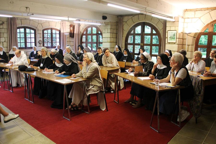 Les délégués de la CIB au monastère sainte Françoise Romaine