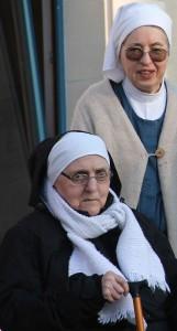 Sœur Praxède, bénédictine du monastère sainte francoise