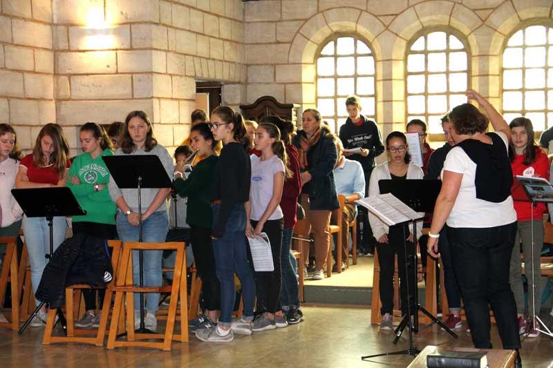 Camp de musique au monastère sainte francoise romaine
