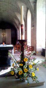 cierge pascal, monastère sainte françoise